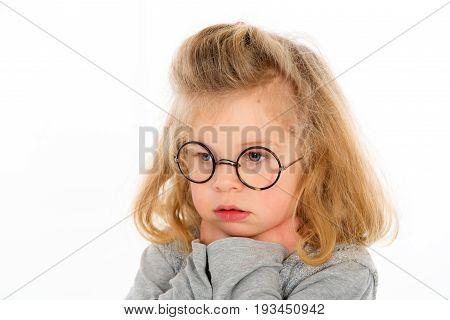 Little Girl Is Sad