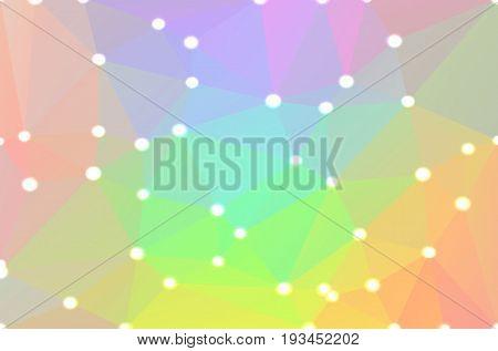 Light Rainbow Geometric Background With Lights