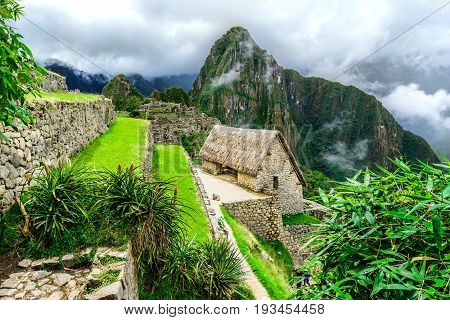 Guardhouses in Machu Picchu, Andes, Sacred Valley Peru