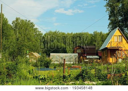 Russian small village - in the summer