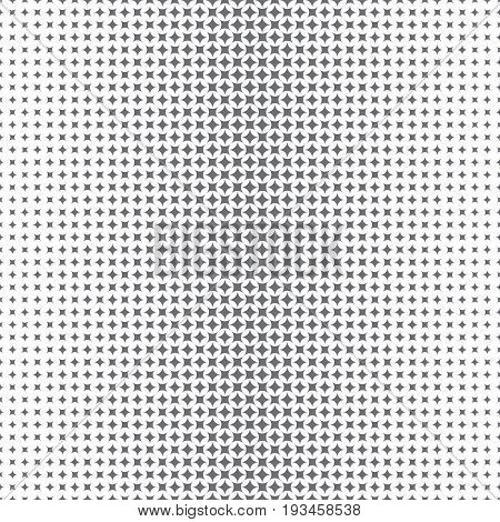 Vector seamless pattern. Abstract halftone background. Modern stylish texture. Repeating grid with rhombuses of the different size. Gradation from bigger to smaller.