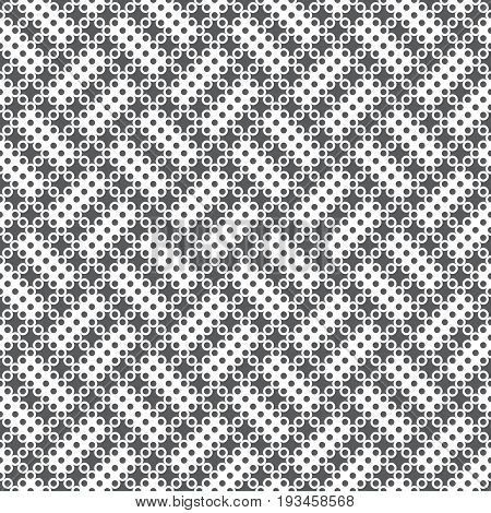 Seamless pattern. Modern stylish texture. Infinitely repeating geometrical texture with small dots and crosses which form contemporary ornament with diamonds tiles