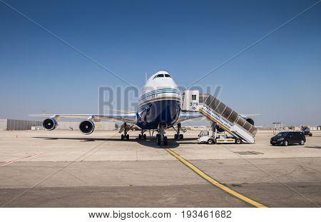 Reactive Private Jet, Landet In Ben Gurion International Airport