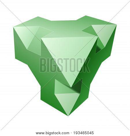 Vector complex geometric shape based on tetrahedron