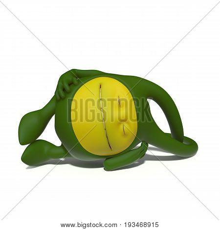 3D illustration. The funniest character on an isolated white background.