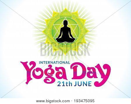 abstract artistic creative yoga day vector illustration