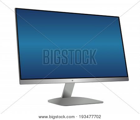 Vector Illustration template. You can easy insert your own image instead blue lcd.