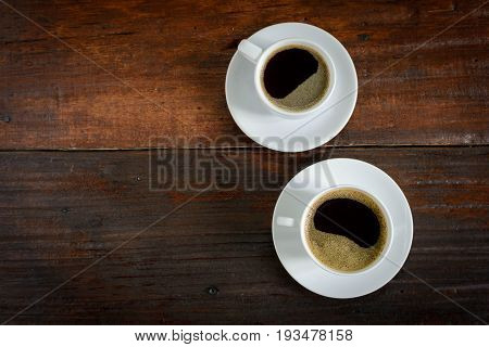 Coffee Cup Clock And News Paper On Old Wooden Table Nature Background