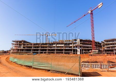 Building Construction Apartments Halfway