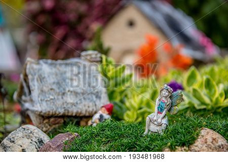 Miniature Moss Garden With Fairies And Gnomes