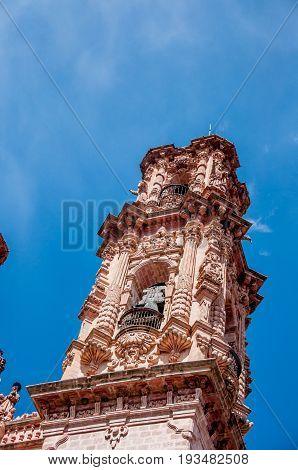 Baroque Spire On The Church Of Santa Prisca
