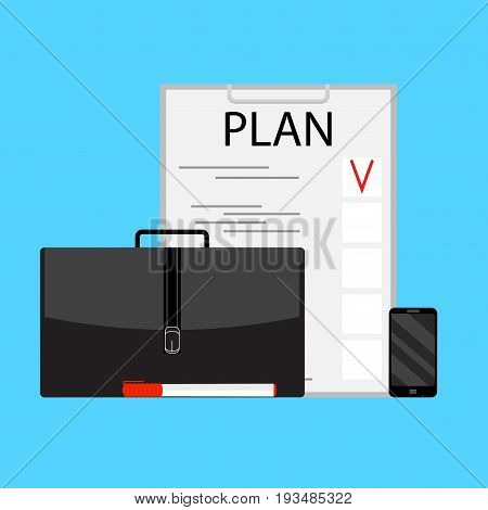 Business planning vector concept. Plan business strategy model strategic planning and marketing plan vector illustration