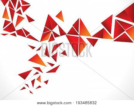 abstract creative red explode background vector illustration