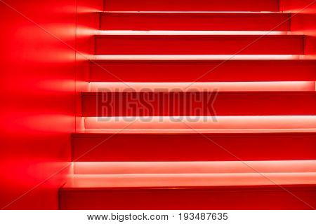Abstract Modern Red Stairs