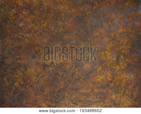 Brown rusty abstract background with painted welding joint