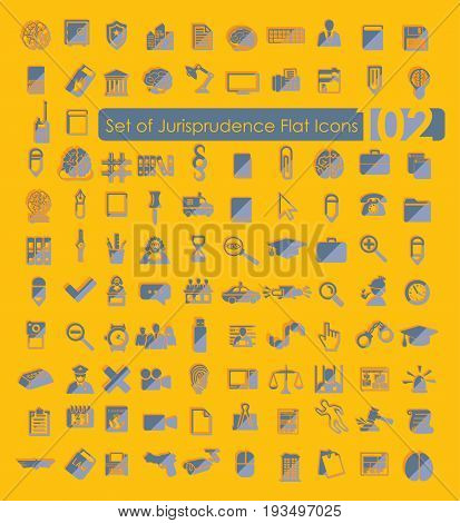 It is a Set of jurisprudence icons