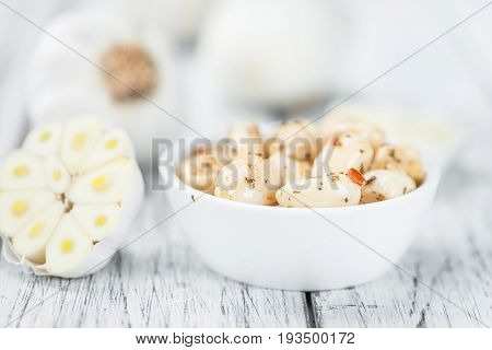Portion Of Preserved Garlic