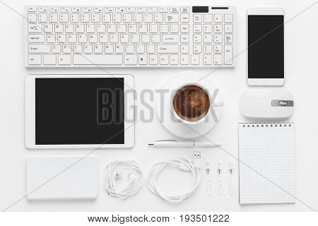 Overhead Of Essential Office Objects