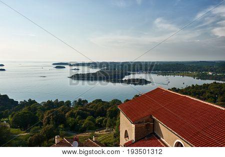 Beautiful View Of Vrsar from tower -Istria, Croatia