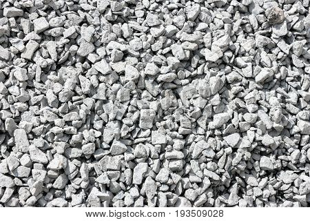 Texture of Gravel gray abstract background. Stones texture