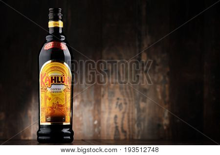 Bottle Of Kahlua Liqueur.