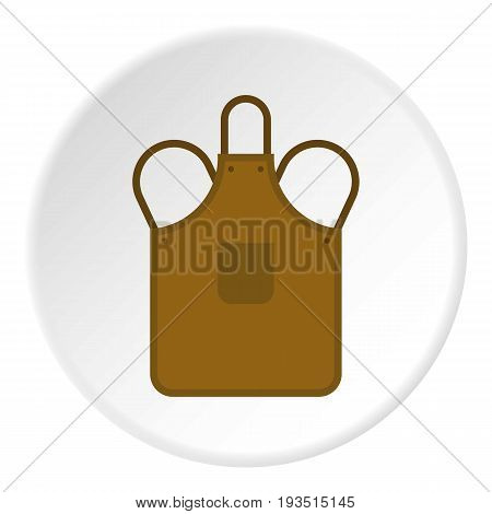 Blacksmiths apron icon in flat circle isolated vector illustration for web