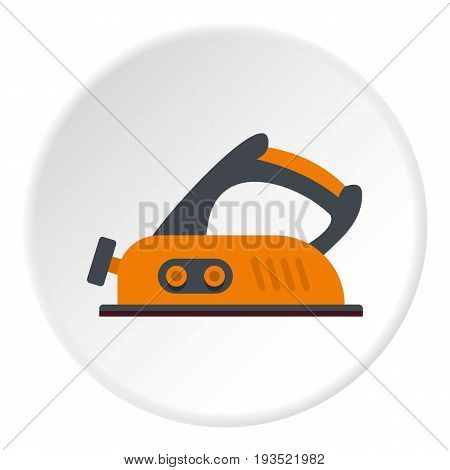 Jack plane icon in flat circle isolated vector illustration for web