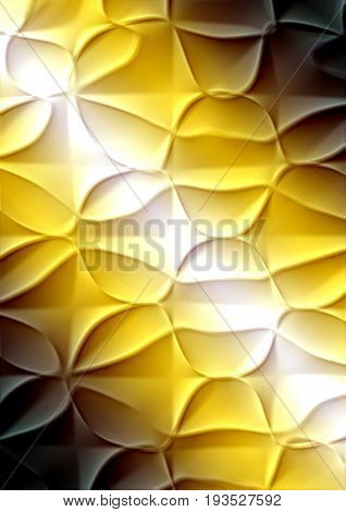 Abstract textured with raised pattern on yellow brown gradient background