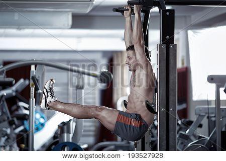 Man Doing Leg Raises