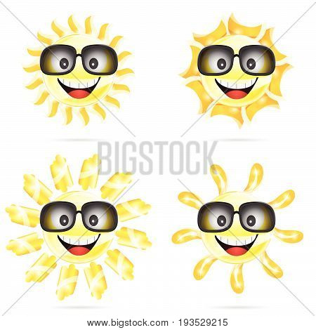 Sun Cartoon With Sunglasses Illustration Two