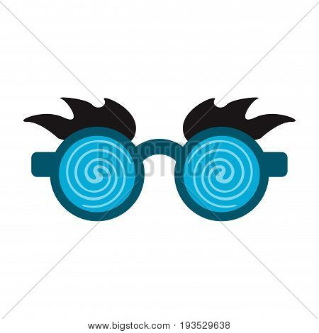 crazy glasses with brows funny toy icon image vector illustration design