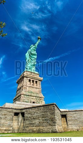 The statue of Liberty on Liberty Island in New York City, USA