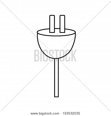 line electric power cable to voltage connection vector illustration