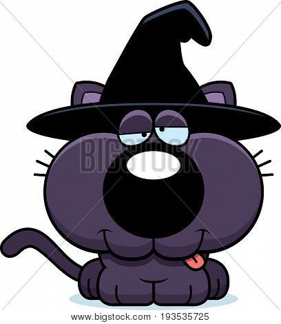 Cartoon Goofy Witch Cat