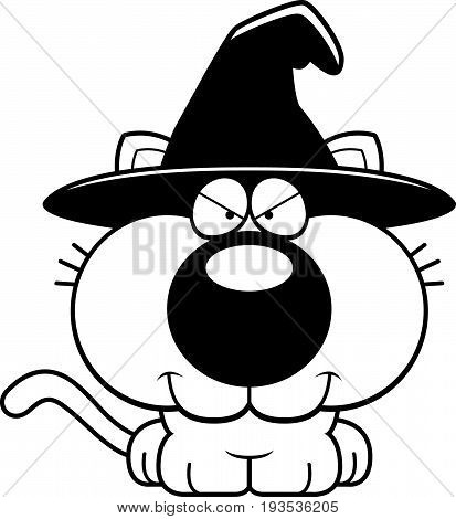 Cartoon Sly Witch Cat