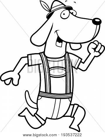 Cartoon Dachshund Running