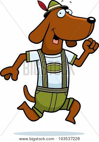 Cartoon Dachshund Running