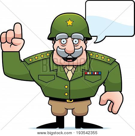Cartoon Military General Talking