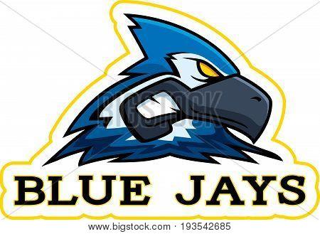 Cartoon Blue Jay Mascot