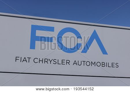 Kokomo - Circa June 2017: FCA Fiat Chrysler Automobiles Transmission Plant. FCA sells vehicles under the Chrysler Dodge and Jeep brands VIII