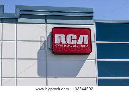 Indianapolis - Circa July 2017: RCA Commercial Electronics Office. RCA Commercial Electronics Designs Televisions LED Lighting and other Accessories II