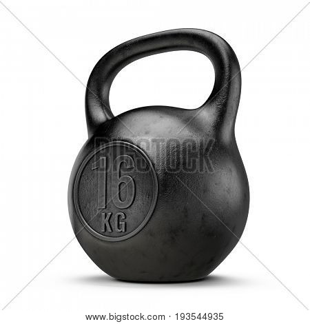 Kettlebell gym weight isolated on white background. 3d render