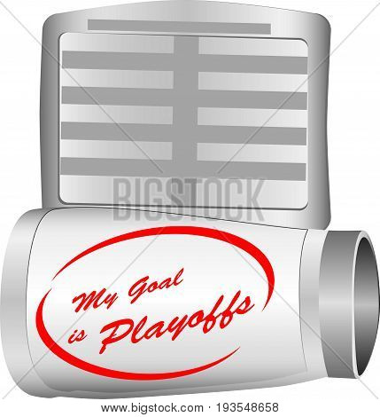 The inscription on the player's cuff is my goal - the playoffs