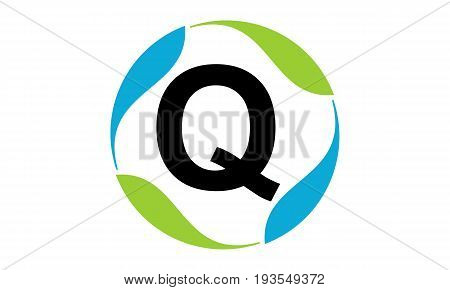 This image describe about Green Project Solution Letter Q