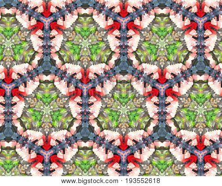 Abstract Extruded Pattern 3D Illustration