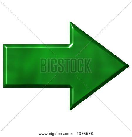 3D Green Arrow