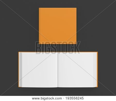 Open And Closed Blank Square Book