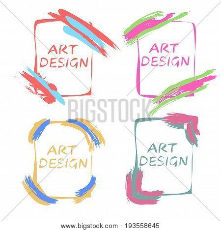 Pop art design. Frames for an gallery, art studio, school. Vector illustration