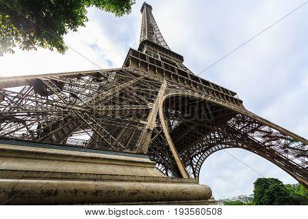 Tour Eiffel Eiffel Tower in Paris France.