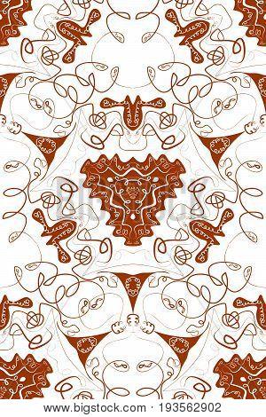 Mandala seamless pattern. Arabic seamless pattern. Eastern mandalas texture. Boho style vector.